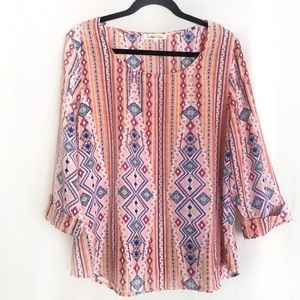 WISHFUL PARK |  peach color flowy blouse L